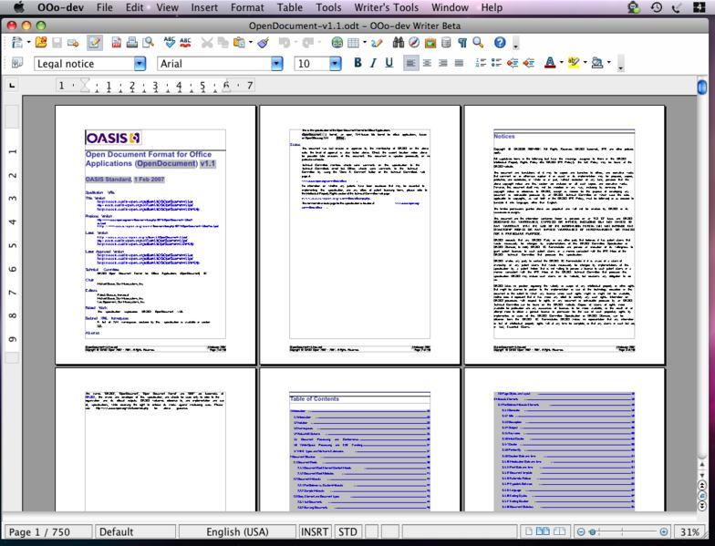 open office mac. OpenOffice.org 3.0 New