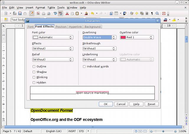 Screen Openoffice Org Trei Unu New Features
