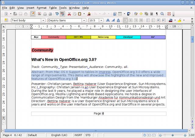 Nouveaut s de la version 3 1 - Arriere plan open office writer ...