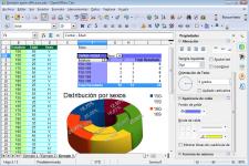 Pantallazo de Apache OpenOffice Calc