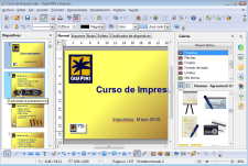 Pantallazo de Apache OpenOffice Impress