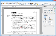 Ecrã do Apache OpenOffice Writer
