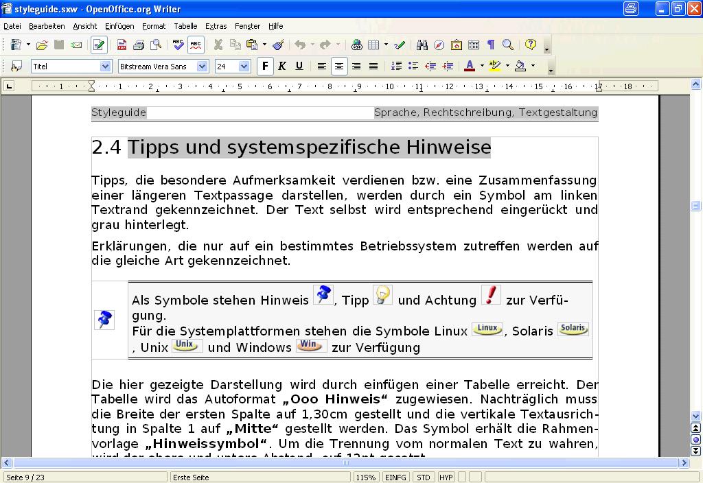 Screenshots: OpenOffice.org 2.0 Beta - On Windows (II)