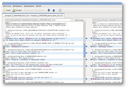 Snimak ekrana sa pokrenutim program za primenu  ispravki na lokalizaciju