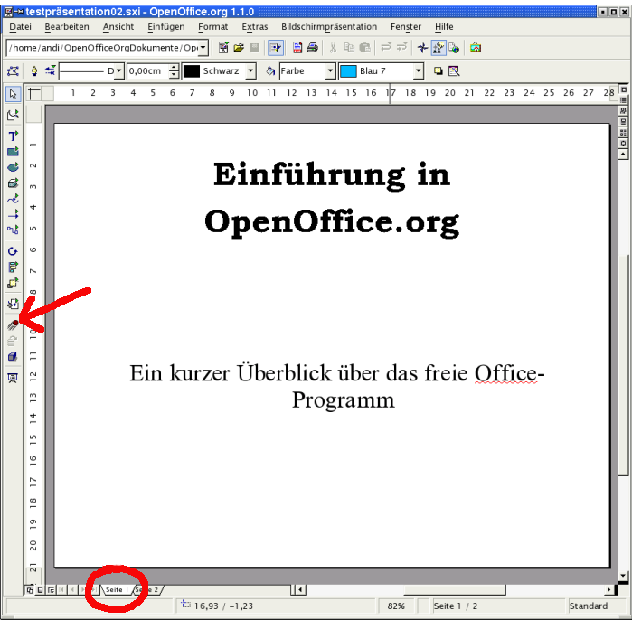 Hintergrund open office dokument
