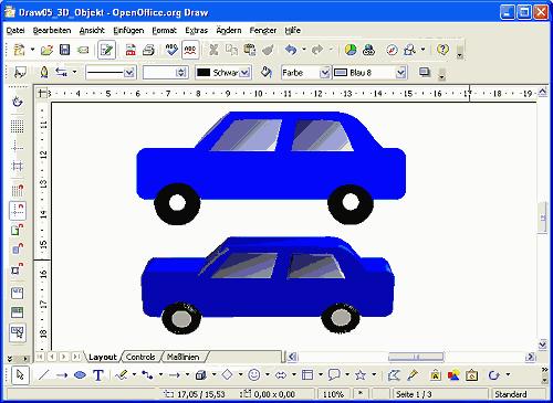 OpenOffice.org Draw - 3D-Objekte erzeugen