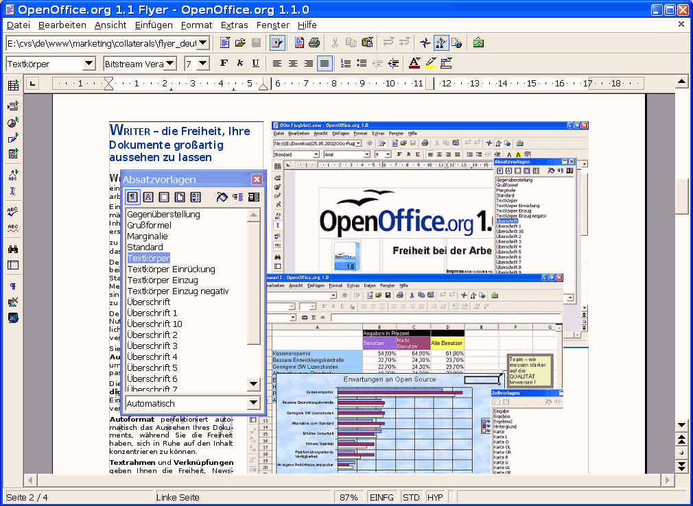 OpenOffice.org 1.1 Features