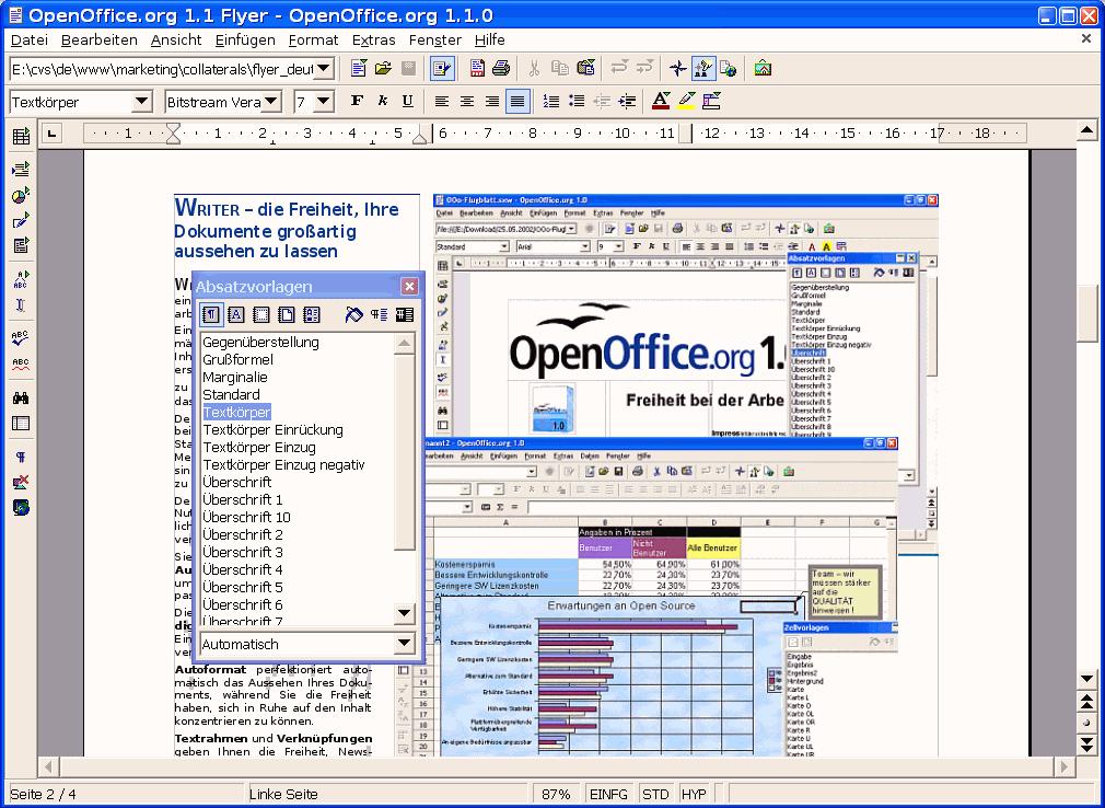 openoffice textverarbeitung