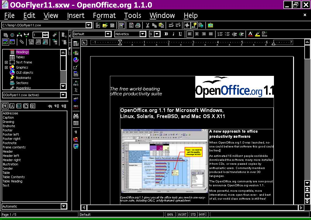 Openofficeorg 11 Features