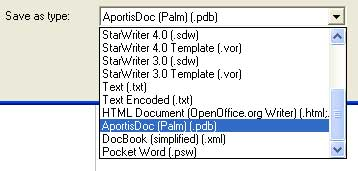 openofficeorg allows users to export openofficeorg documents to popular file formats like docbook or various small device file formats like aportisdoc