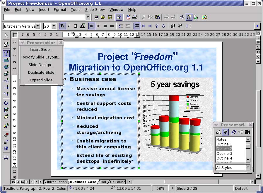 OpenOffice org 1 1 Features