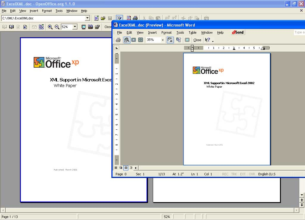 Microsoft open office