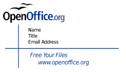 Openoffice business cards accmission