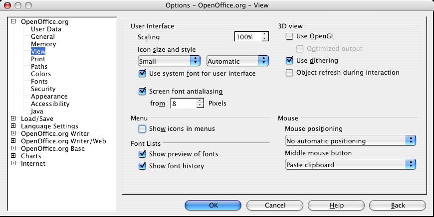 OpenOffice org for Mac OS X : FAQ : Where is Calc, Draw