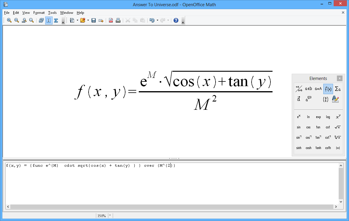 Apache Openoffice Math