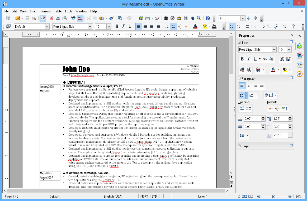 apache openoffice writer