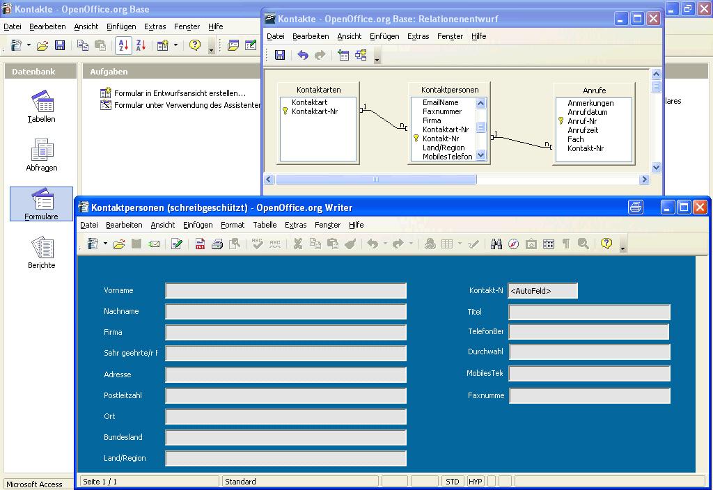 Screenshots Openoffice Org 2 0 Beta Base